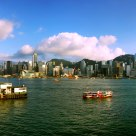 Victoria Harbour (Hong Kong) Sunset Panorama